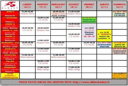 Programma Settimanale IMMAGINE 2009-2010
