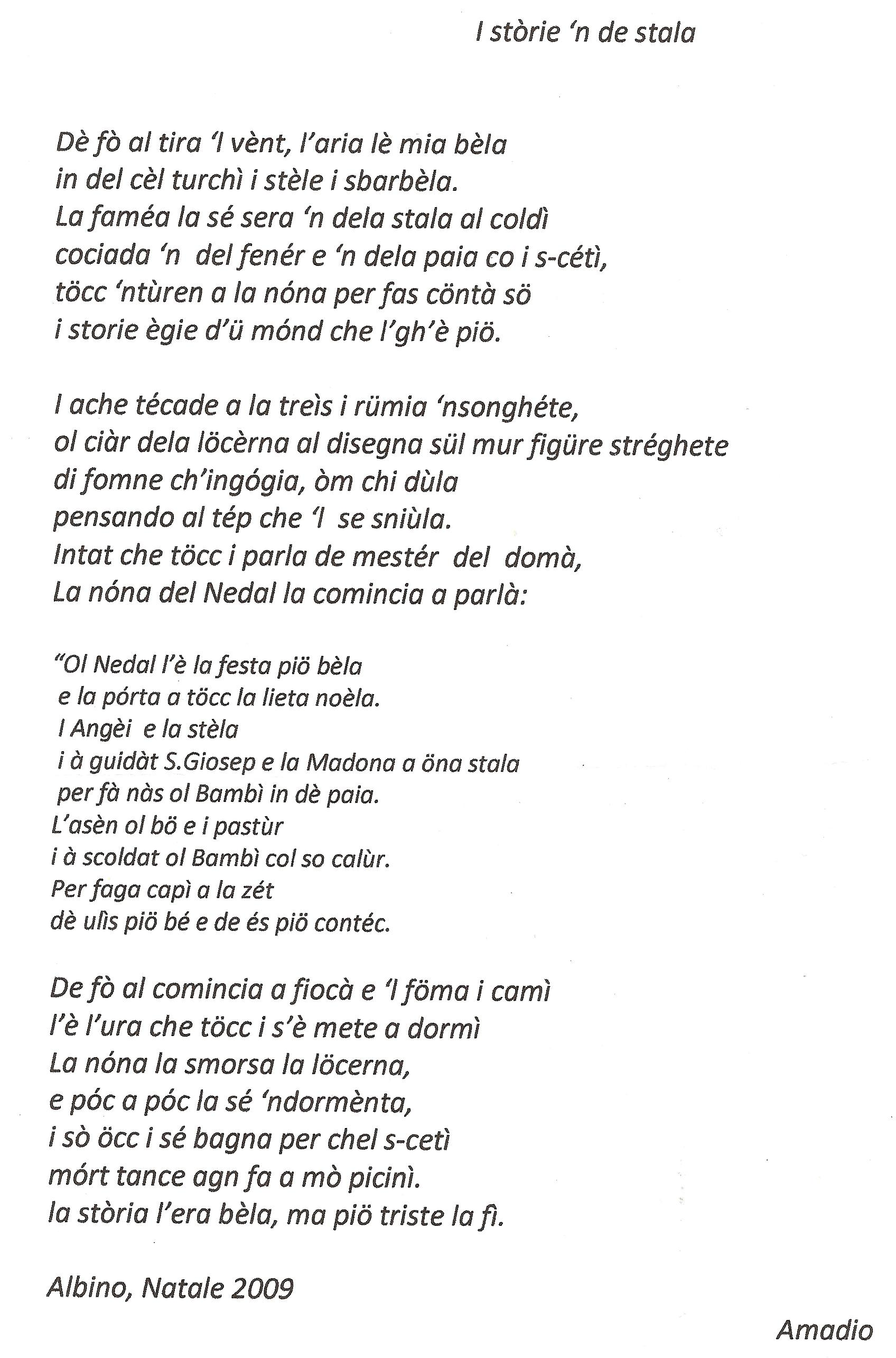 Famoso Poesie Di Natale In Romanesco | Demonflower RK53